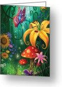 Lily Greeting Cards - A Secret Place Greeting Card by Philip Straub