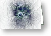 Rumi Greeting Cards - A Secret Sky - Fractal Art Greeting Card by NirvanaBlues