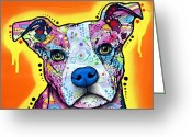 Dean Russo Greeting Cards - A Serious Pit Greeting Card by Dean Russo