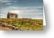 Celt Greeting Cards - A Shack on the Aran Islands Greeting Card by Natasha Bishop