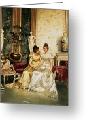Confidence Greeting Cards - A Shared Confidence Greeting Card by Joseph Frederick Charles Soulacroix