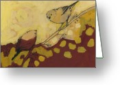 Sparrow Greeting Cards - A Short Pause Greeting Card by Jennifer Lommers