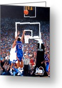 Royal Gamut Art Greeting Cards - A Shot to Remember - 2008 National Champions Greeting Card by Tom Roderick