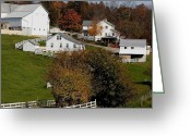 Amish Farms Greeting Cards - A Simpler Way Greeting Card by Lydia Warner Miller
