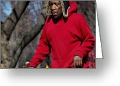 Peaked Greeting Cards - A skater in Central Park - 2 Greeting Card by RicardMN Photography