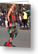 Peaked Greeting Cards - A skater in Central Park Greeting Card by RicardMN Photography