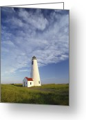 Great Point Greeting Cards - A Sky Full Of Wispy Clouds Greeting Card by Michael Melford