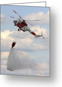 Pouring Greeting Cards - A Sokol W-3a Helicopter Of The Czech Greeting Card by Timm Ziegenthaler