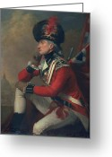 Redcoat Painting Greeting Cards - A soldier called Major John Andre Greeting Card by English School