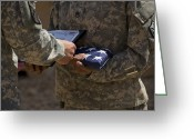 American Airmen Greeting Cards - A Soldier Is Presented The American Greeting Card by Stocktrek Images