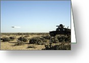 Arid Climate Greeting Cards - A Soldier Tests His Skill With The Tube Greeting Card by Stocktrek Images