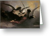 Adolphe Greeting Cards - A Soul Brought to Heaven Greeting Card by Adolphe William Bouguereau