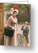 Gent Greeting Cards - A Source of Admiration Greeting Card by Edmund Blair Leighton