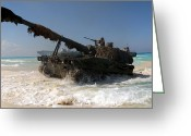 Battle Tanks Greeting Cards - A Spanish Army M109a5 155mm Greeting Card by Stocktrek Images