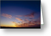 Black Cloud Greeting Cards - A Specactular Sunset And Cloud Greeting Card by Jason Edwards
