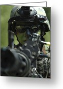 Gun Barrel Greeting Cards - A Special Warfare Combatant-craft Greeting Card by Stocktrek Images