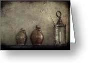 Jugs Greeting Cards - A Still Life Greeting Card by Christine Annas