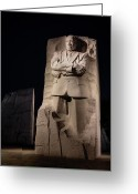 Martin Luther King Greeting Cards - A Stone of Hope Greeting Card by JC Findley