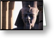 Complex Greeting Cards - A Stone Statue Of Ramses Ii Greeting Card by Martin Gray