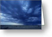 Desolate Landscapes Greeting Cards - A Storm Brews On The Horizon Greeting Card by Kenneth Garrett