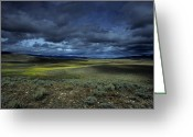 Rain Storms Greeting Cards - A Storm Builds Up Over A Colorado Greeting Card by David Edwards