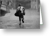 Steven Gray Greeting Cards - A Storm in Venice Greeting Card by Steven Gray