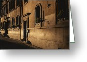 Latium Region Greeting Cards - A Street In Rome Displays Renaissance Greeting Card by Marc Moritsch