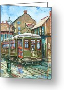 New York City Painting Greeting Cards - A Streetcar Named Desire Greeting Card by Dianne Parks