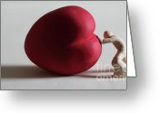 Heart Sculpture Greeting Cards - A Study for my first Sculpture Greeting Card by Chris Mackie