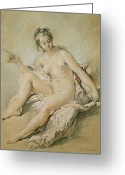 Nudes Greeting Cards - A study of Venus Greeting Card by Francois Boucher