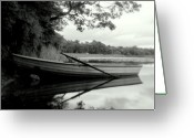 Summers Greeting Cards - A Summers Evening Lake of Menteith. Greeting Card by Amanda Finan