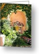 Most Greeting Cards - A Sunny Nook Hotel Bel - Air Greeting Card by David Lloyd Glover