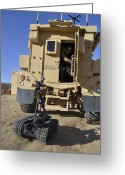 Military Vehicle Greeting Cards - A Talon Mark 2 Bomb Disposal Robot Greeting Card by Stocktrek Images