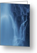 Time Exposures Greeting Cards - A Time Exposure Of Running Water Greeting Card by Michael Melford