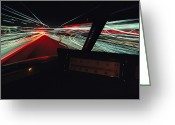 Time Exposures Greeting Cards - A Time Exposure Showing Streaks Greeting Card by Paul Chesley