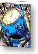 Clocks Digital Art Greeting Cards - A Time of Inspiration Greeting Card by Jimi Bush