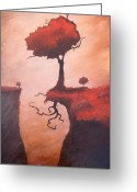Woods Painting Greeting Cards - A Totem of Will Greeting Card by Ethan Harris