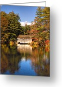 Scenic New England Greeting Cards - A Touch of Autumn Greeting Card by Joann Vitali