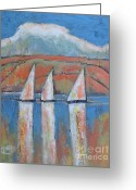 Sailing Fast Greeting Cards - A Touch Of Warm Sunset Greeting Card by Kip Decker