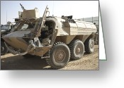 Armored Vehicles Greeting Cards - A Tpz Fuchs Armored Personnel Carrier Greeting Card by Terry Moore