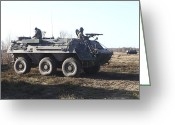 Armored Vehicles Greeting Cards - A Tpz Fuchs Armored Personnel Carrier Greeting Card by Timm Ziegenthaler