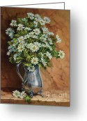 Silver Pitcher Greeting Cards - A Tribute to Lupetti Greeting Card by Carolyn Sterling