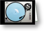 Directly Above Greeting Cards - A Turntable Greeting Card by Caspar Benson