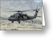 Arid Climate Greeting Cards - A Uh-60 Blackhawk Helicopter Greeting Card by Stocktrek Images