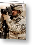 Reporting Greeting Cards - A U.s. Air Force Combat Cameraman Greeting Card by Stocktrek Images