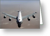 Rivet Greeting Cards - A U.s. Air Force Rc-135vw Rivet Joint Greeting Card by Stocktrek Images