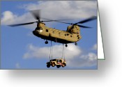 Load Greeting Cards - A U.s. Army Ch-47 Chinook Helicopter Greeting Card by Stocktrek Images