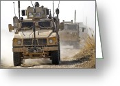 Armored Vehicles Greeting Cards - A U.s. Army M-atv Leads A Convoy Greeting Card by Stocktrek Images