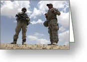 Reporting Greeting Cards - A U.s. Army Soldier Communicates Greeting Card by Stocktrek Images