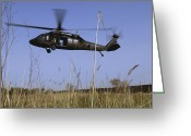 Battleground Greeting Cards - A U.s. Army Uh-60 Black Hawk Helicopter Greeting Card by Stocktrek Images